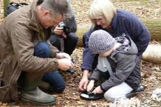 Nick Baker at Moore Nature Reserve Forest School c. Claire Huxley