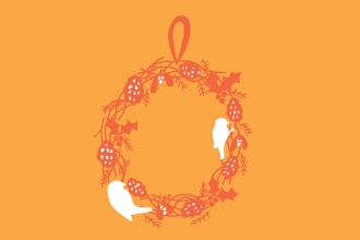 xmas wreath for birds