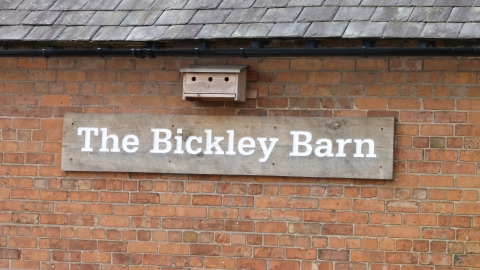 Bickley Barn sign c. Claire Huxley