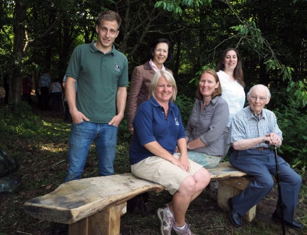 Cheshire Wildlife Trust staff and William Deane Trustees