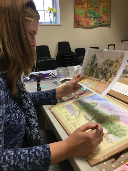 Spring watercolour workshop c. Katie Greenwood