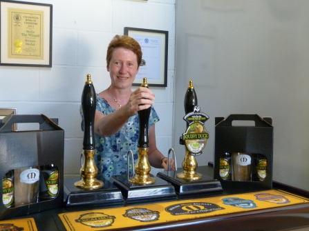Kathryn Pilling who suggested the beer name 'Squiffy Duck'