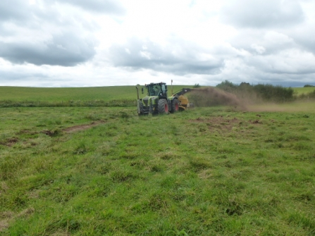 Rotary ditching machine Bickley Hall Farm c. Ben Gregory